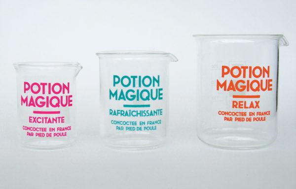 Pied de poule - Potion magique - verres