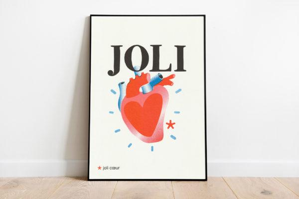 Pied de poule - Affiches Mots doux - Joli coeur